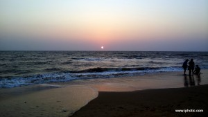 Sunset at Anjuna beach
